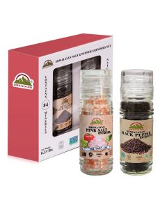Pink Salt & Black Pepper Small Grinder Set|Himalayan Chef