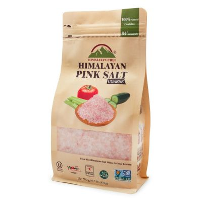 Pink Salt Coarse Stand Up Pouch Bag - 1 lbs | Himalayan Chef