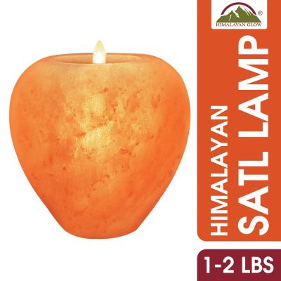 Apple Shape Pink Salt Candle Holder 1-2 lbs|Himalayan Glow