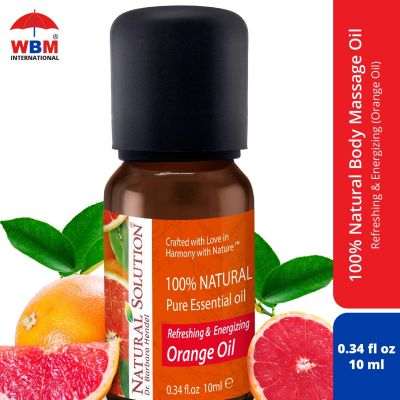 Natural Solution Refreshing & Energizing Orange Essential Oil - 10ml